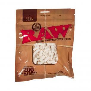 RAW Slim Tips (200 Unit Bag), Bag of 200 (RAW Filters)
