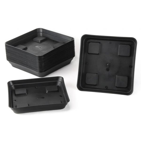 Square Black Saucer (20 x 20 cm)