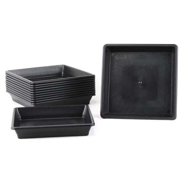 Square Black Saucer 18x18 cm (1 unit)