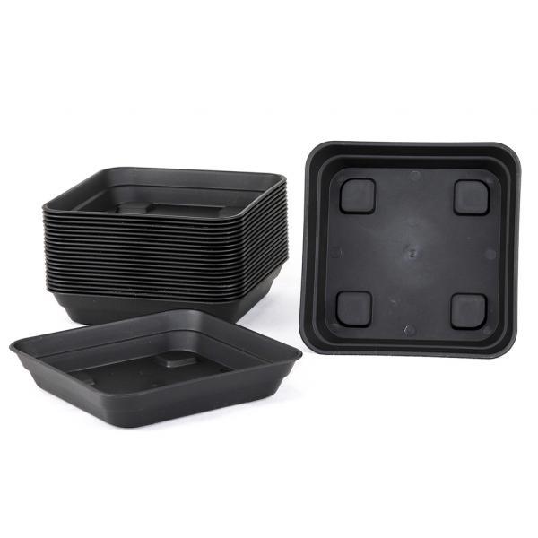 Square Black Saucer (15 x 15 cm)