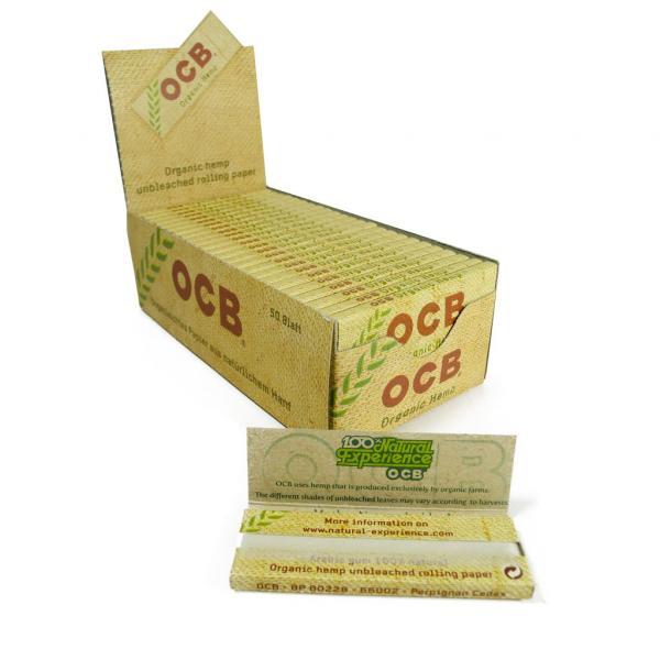 Feuilles à rouler OCB - Organic Hemp (Boîte de 50 carnets)