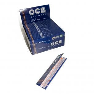 OCB Ultimate Slim Rolling Paper, Box of 50 (OCB Rolling Papers)