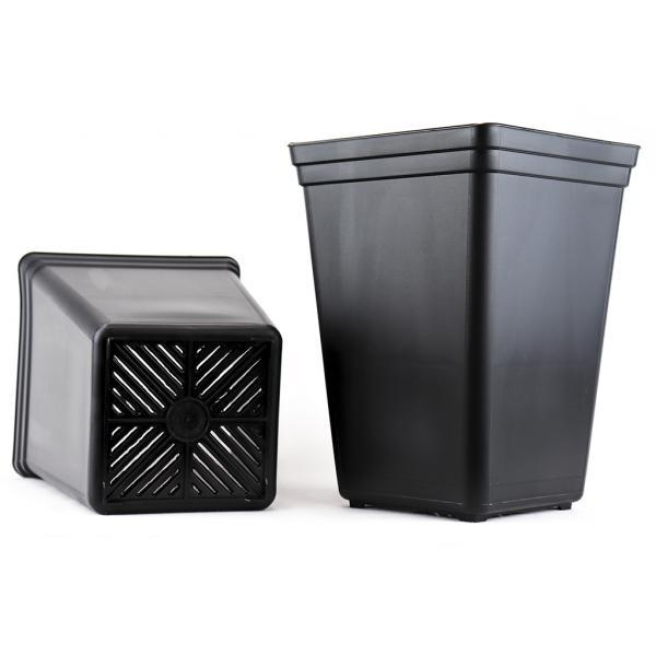 Square Black Pot (7 L)