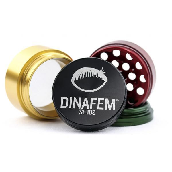 Grinder Rasta Dinafem Aluminio 4 Partes (40 mm diámetro)