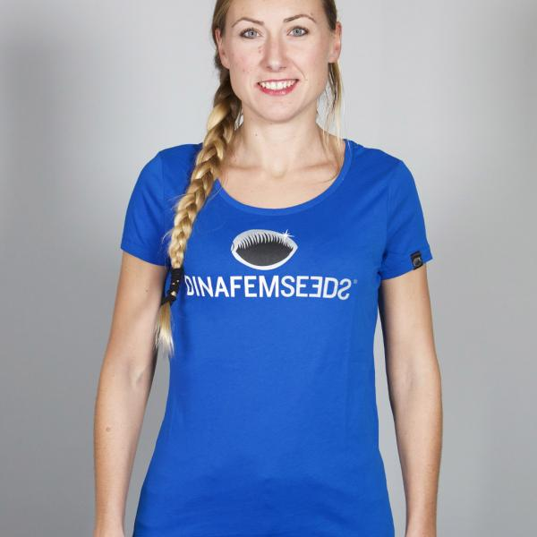 Big Logo Girls' T-Shirt Royal Blue (S)