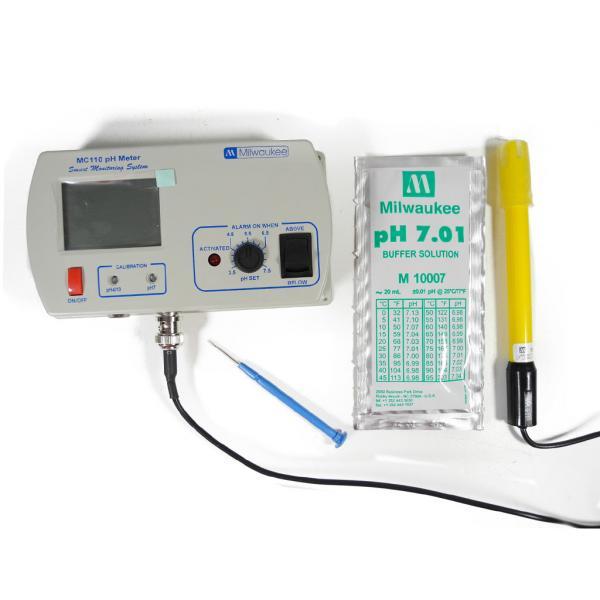 Testeur de pH - MC110 (lecture continue et alarme) (1 unité)