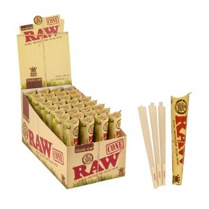 King Size Organic Hemp Cones, Pack of 3 (RAW Pre-Rolled Cones)
