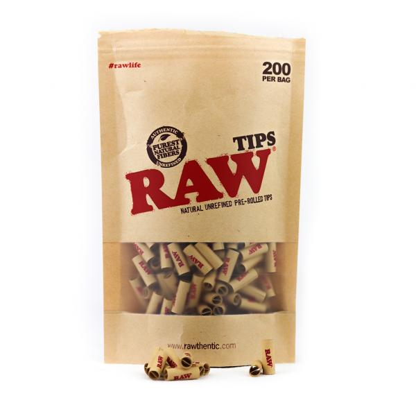 Prerolled RAW Paper Tips (Bag of 200)
