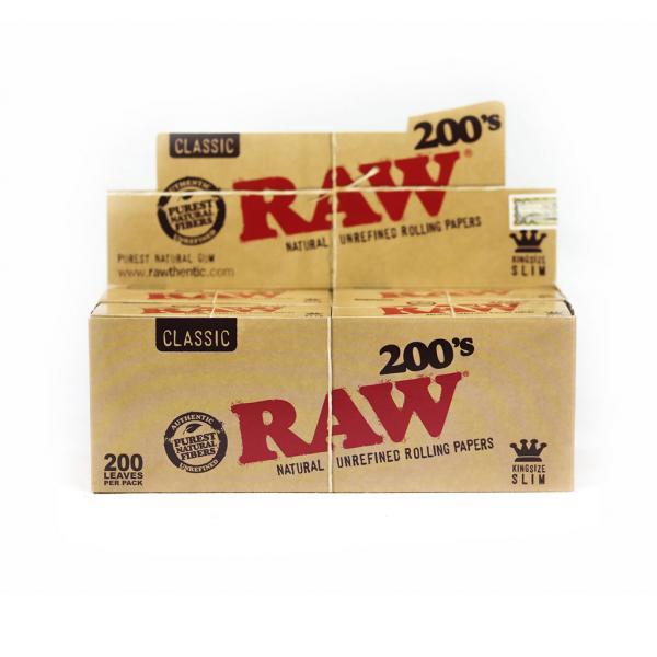 RAW King Size Slim 200 (Box of 40)