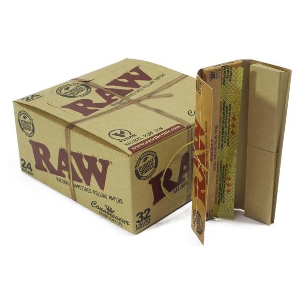 RAW Connoisseur Kingsize Slim + Tips (Caja 24 unidades)