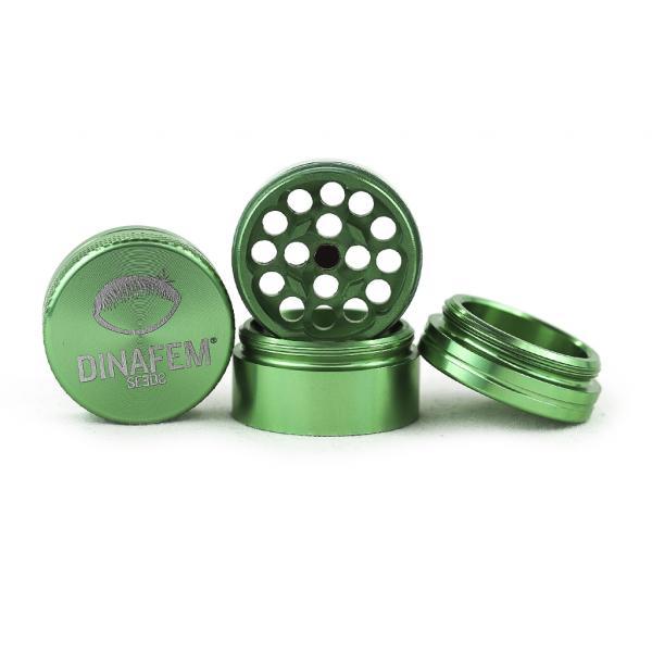 Dinafem Aluminium Grinder 30 Mm 4 Parts (Green)