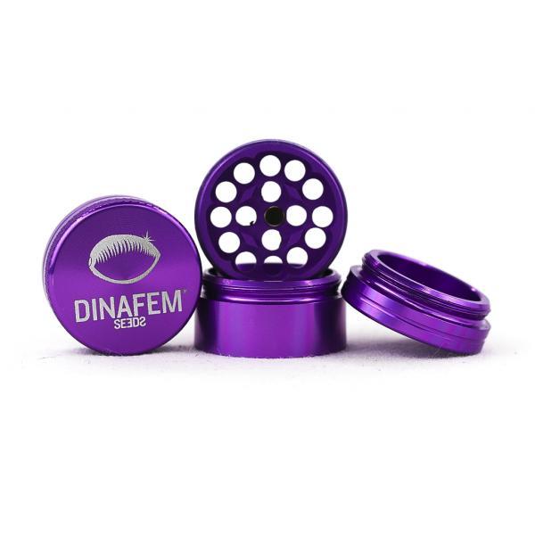 Dinafem Aluminium Grinder 30 Mm 4 Parts (Purple)