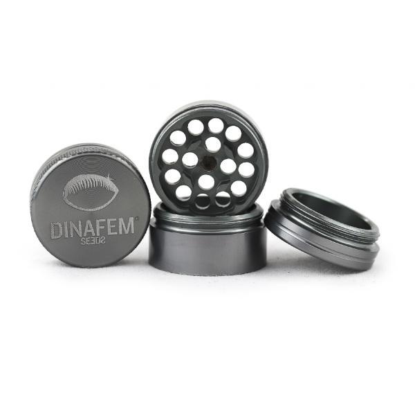 Dinafem Aluminium Grinder 30 Mm 4 Parts (Grey)
