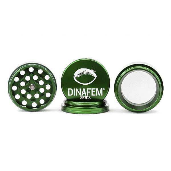 Grinder Dinafem Aluminio 40 Mm 4 Partes (Verde)