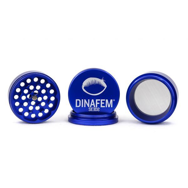 Grinder Dinafem Aluminio 56 Mm 4 Partes (Azul)