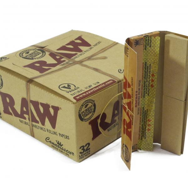 RAW Connoisseur Kingsize Slim + Tips (1 unidad)
